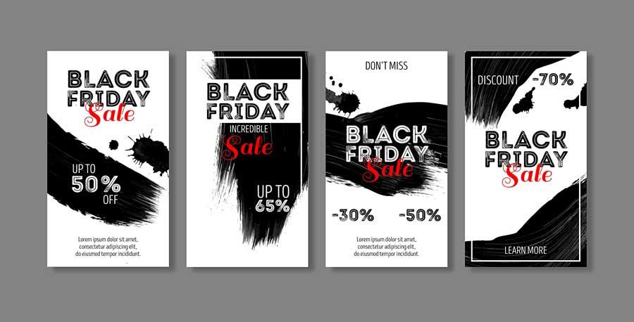 دانلود قالب استوری اینستاگرام فروش black fridays
