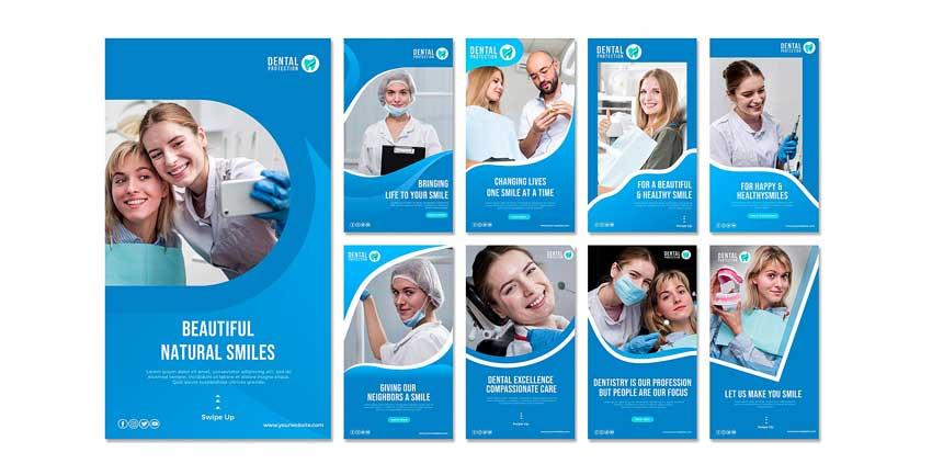دانلود قالب استوری اینستاگرام دندانپزشکی dentist