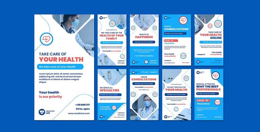 دانلود قالب استوری اینستاگرام پزشکی medicine