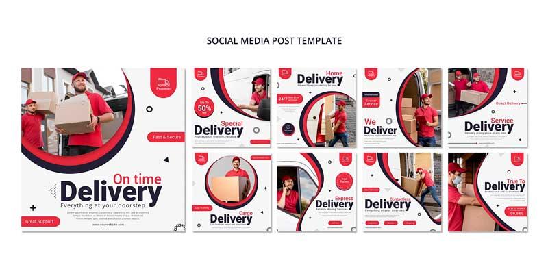 دانلود قالب پست اینستاگرام ارسال کالا delivery