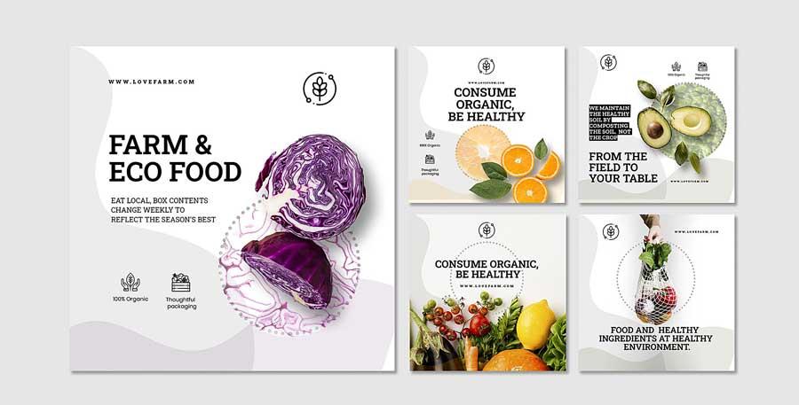 دانلود قالب پست اینستاگرام فروش میوه ارگانیک