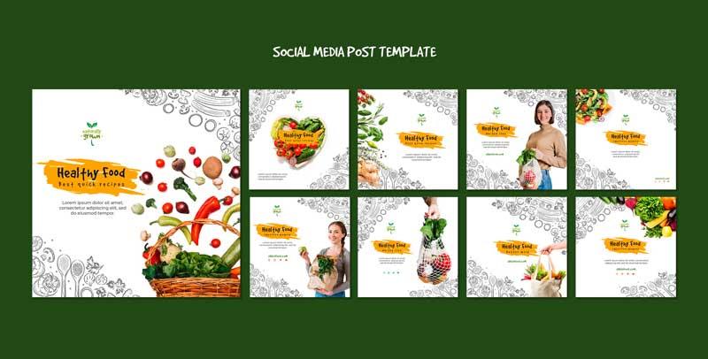 دانلود قالب پست اینستاگرام فروش میوه healthy food