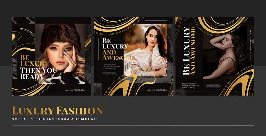 دانلود قالب پست اینستاگرام فروش پوشاک 2 luxury