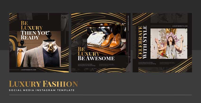 دانلود قالب پست اینستاگرام فروش پوشاک luxury