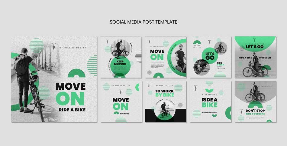 دانلود قالب پست اینستاگرام فروش دوچرخه bike
