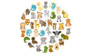 دانلود وکتور حیوانات animals cute zoo01