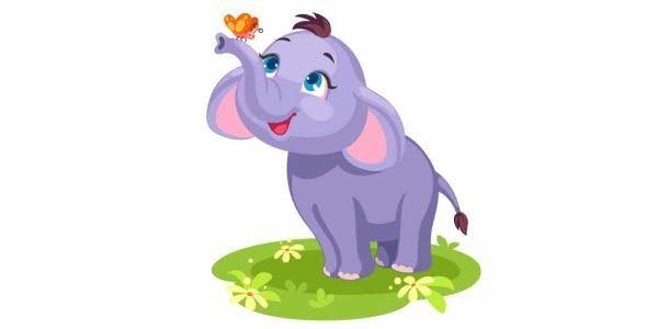 دانلود وکتور حیوانات elephant butterfly