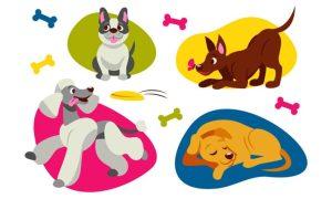 دانلود وکتور حیوانات flat-cute-dog-collection01